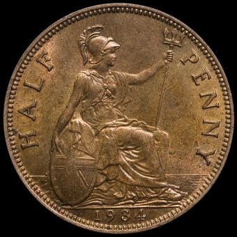 1934 George V Halfpenny Reverse