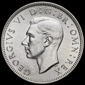 1939 George VI Silver Scottish Shilling Obverse