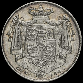 1834 William IV Milled Half Crown Reverse
