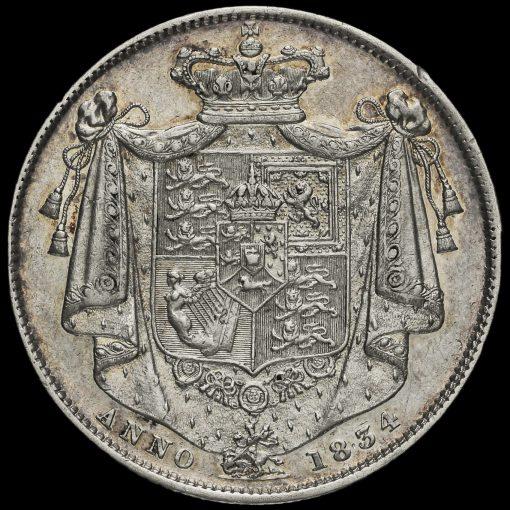 1834 William IV Milled Half Crown Reverse