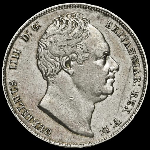 1835 William IV Milled Silver Half Crown Obverse
