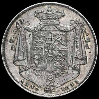 1835 William IV Milled Silver Half Crown Reverse