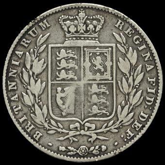 1848 Queen Victoria Young Head Half Crown Reverse
