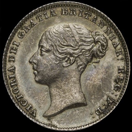 1852 Queen Victoria Young Head Sixpence Obverse