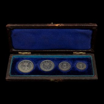 1871 Queen Victoria Young Head Silver Maundy Set