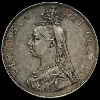 1887 Queen Victoria Jubilee Head Silver Double Florin Obverse