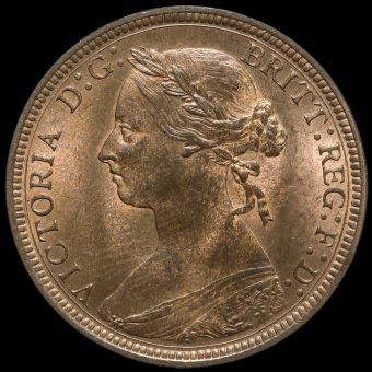 1887 Queen Victoria Bun Head Halfpenny Obverse
