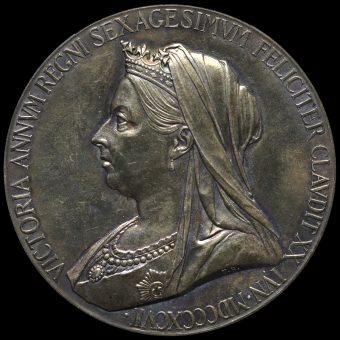 1897 Queen Victoria Official Diamond Jubilee Large Silver Medal Reverse