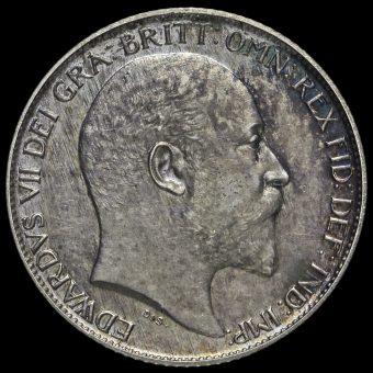 1902 Edward VII Silver Matt Proof Sixpence Obverse