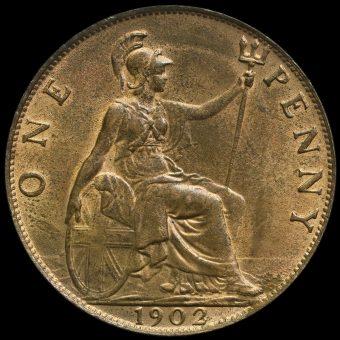 1902 Edward VII Penny Reverse