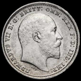 1902 Edward VII Silver Maundy Twopence Obverse