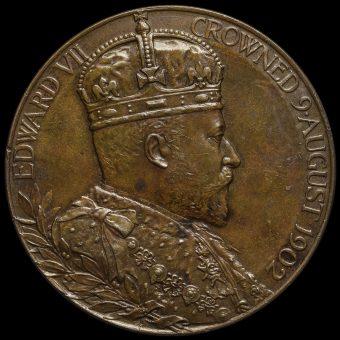 1902 Edward VII Coronation Official Bronze Medal Obverse
