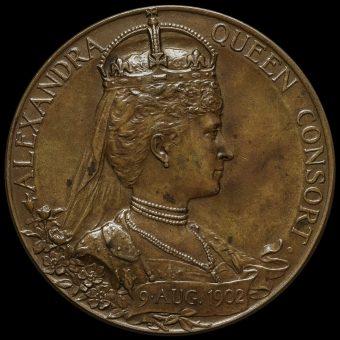 1902 Edward VII Coronation Official Bronze Medal Reverse