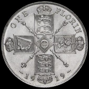 1919 George V Silver Florin Reverse