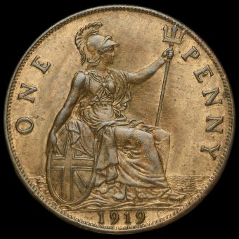 1919 George V Penny Reverse