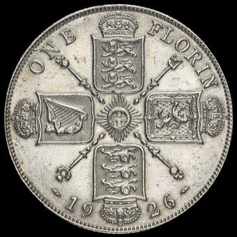 1926 George V Silver Florin Reverse