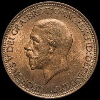1930 George V Halfpenny Obverse
