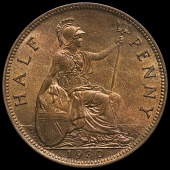 1930 George V Halfpenny Reverse
