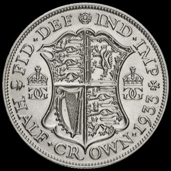 1933 George V Silver Half Crown Reverse