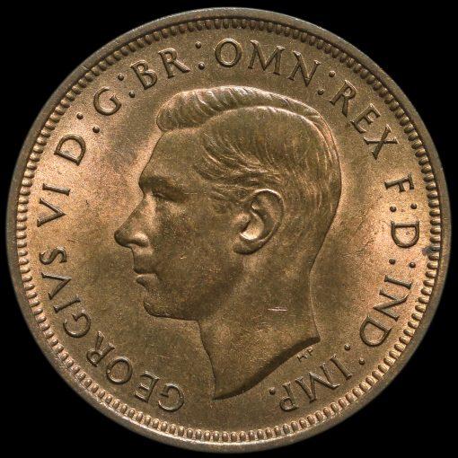 1938 George VI Halfpenny Obverse
