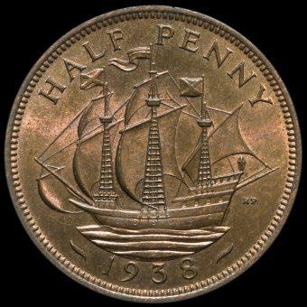1938 George VI Halfpenny Reverse