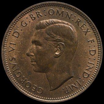 1939 George VI Halfpenny Obverse
