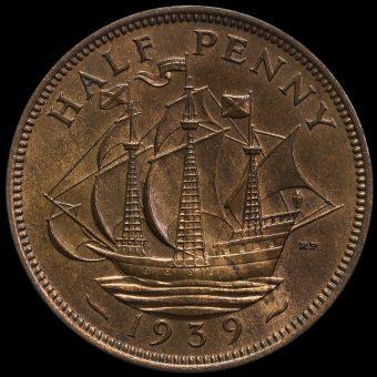 1939 George VI Halfpenny Reverse