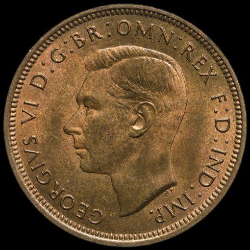 1942 George VI Halfpenny Obverse