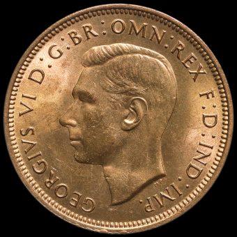 1944 George VI Halfpenny Obverse