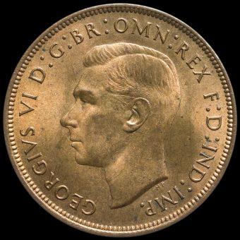 1947 George VI Penny Obverse