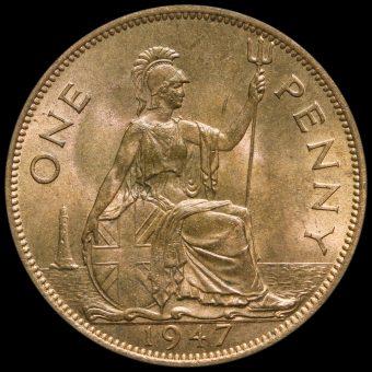 1947 George VI Penny Reverse