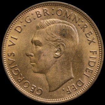 1949 George VI Penny Obverse