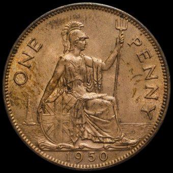 1950 George VI Penny Reverse