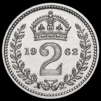 1962 Elizabeth II Silver Maundy Twopence Reverse