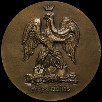 France, 1978 City of Nice Bronze Medal, Nicaea Ribitas Obverse