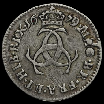 1679 Charles II Early Milled Silver Maundy Threepence Reverse