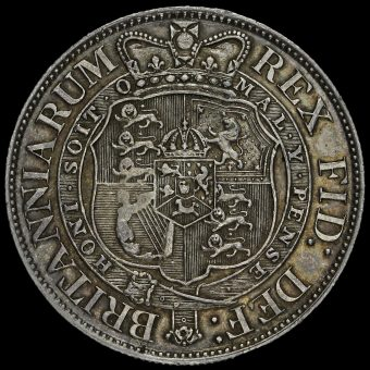 1819 George III Milled Silver Half Crown Reverse