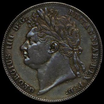 1823 George IV Milled Silver Half Crown Obverse