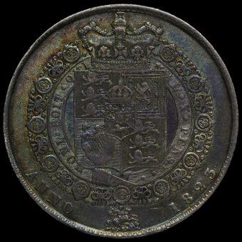 1823 George IV Milled Silver Half Crown Reverse