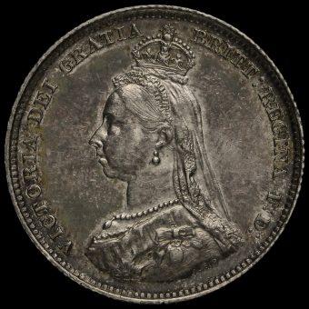 1887 Queen Victoria Jubilee Head Silver Shilling Obverse