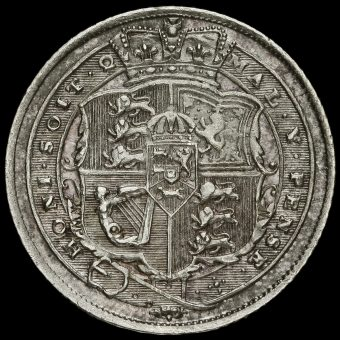 1817 George III Milled Silver Sixpence Reverse