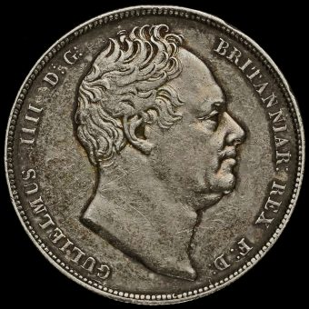 1836 William IV Milled Silver Half Crown Obverse