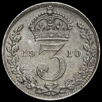 1910 Edward VII Silver Threepence Reverse