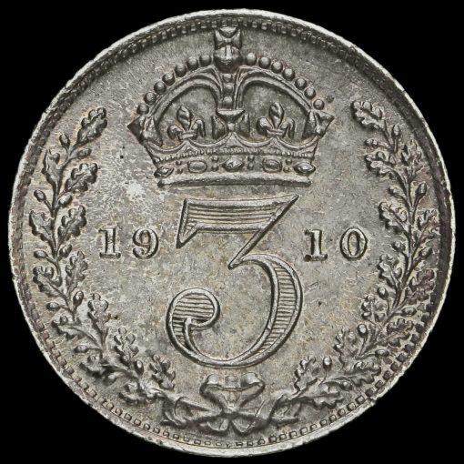 1910 Edward VII Silver Threepence Reverse