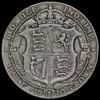 1910 Edward VII Silver Half Crown Reverse