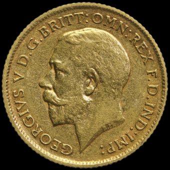 1912 George V Gold Half Sovereign Obverse