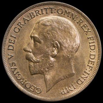 1917 George V Penny Obverse
