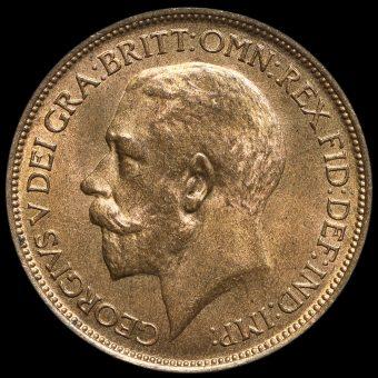 1923 George V Halfpenny Obverse