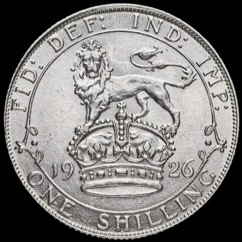 1926 George V Silver Shilling, Third Coinage Reverse