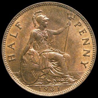 1931 George V Halfpenny Reverse